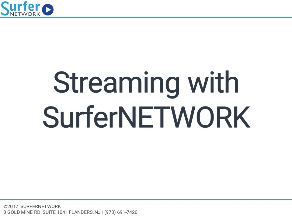 SurferNETWORK Company Presentation Home Page